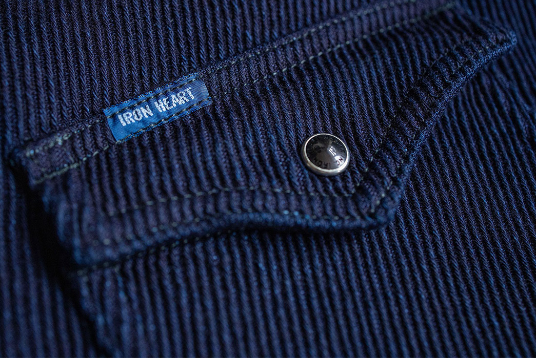 Iron Heart Look Back to Medieval England For Their Kersey Western Shirt pocket
