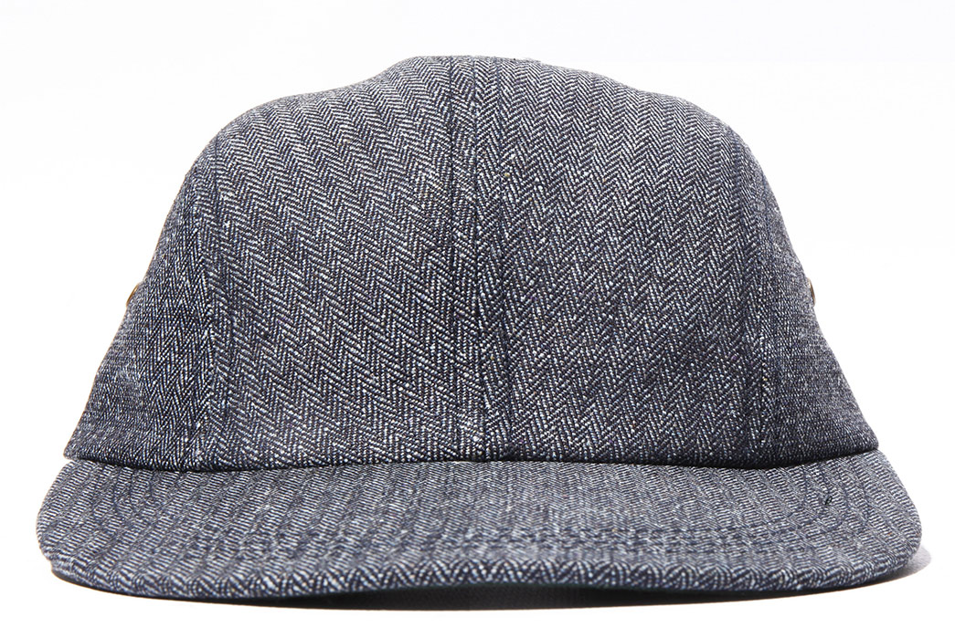 Left Field NYC Cast Out a Herringbone Fishing Cap front