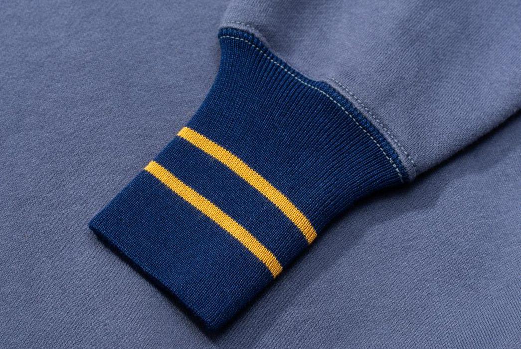 Pherrow's-Channel-1950's-Sportswear-With-The-Early-Athletic-Sweatshirt-blue-sleeve