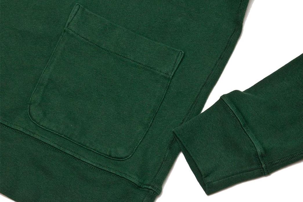 Velva-Sheen-Heavy-Oz-Crewneck-Sweats-green-pocket-and-sleeve