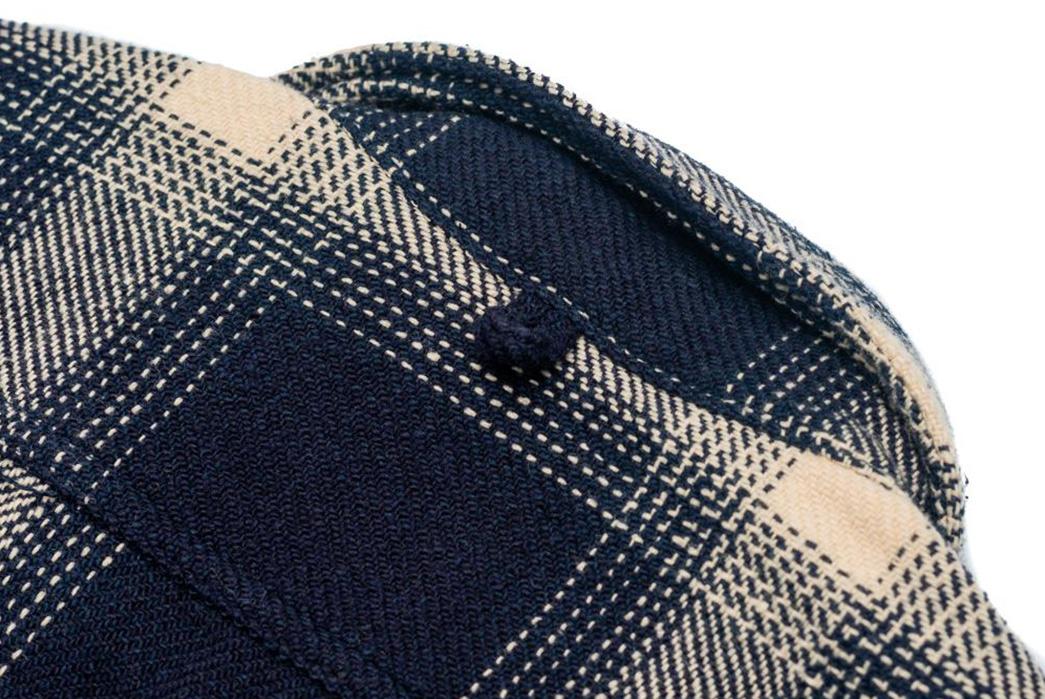 Burgus-Plus-Heavy-Flannel-Work-Shirt-Navy-Check-back-collar