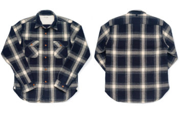 Burgus-Plus-Heavy-Flannel-Work-Shirt-Navy-Check-front-back