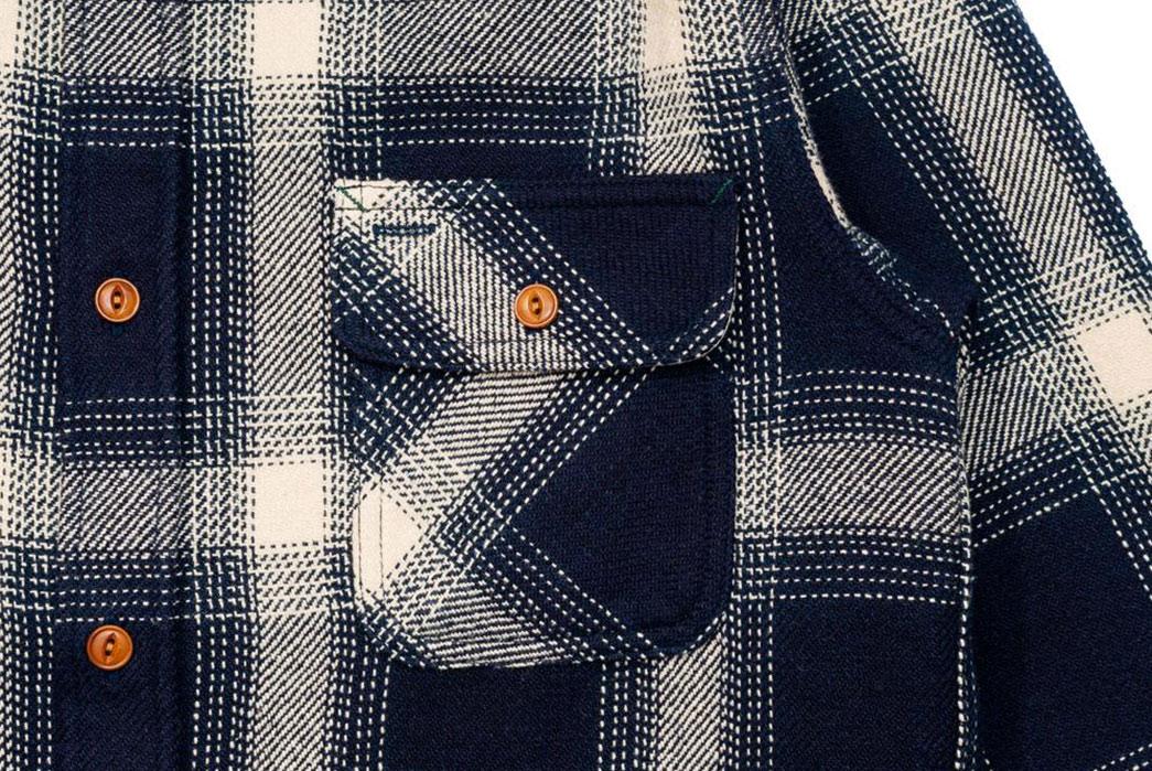 Burgus-Plus-Heavy-Flannel-Work-Shirt-Navy-Check-front-pocket