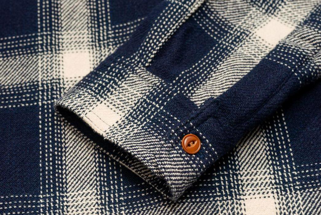 Burgus-Plus-Heavy-Flannel-Work-Shirt-Navy-Check-sleeve