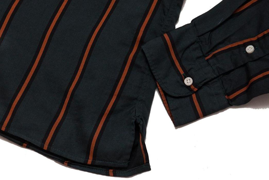Gitman-Bros.-Vintage-Green-Satin-Regimental-Stripe-Camp-Collar-Shirt-sleeve