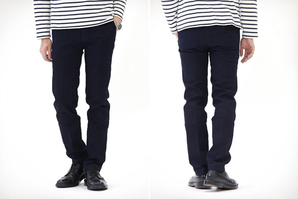 Indigo-Trousers---Five-Plus-One 1) Japan Blue JB4100