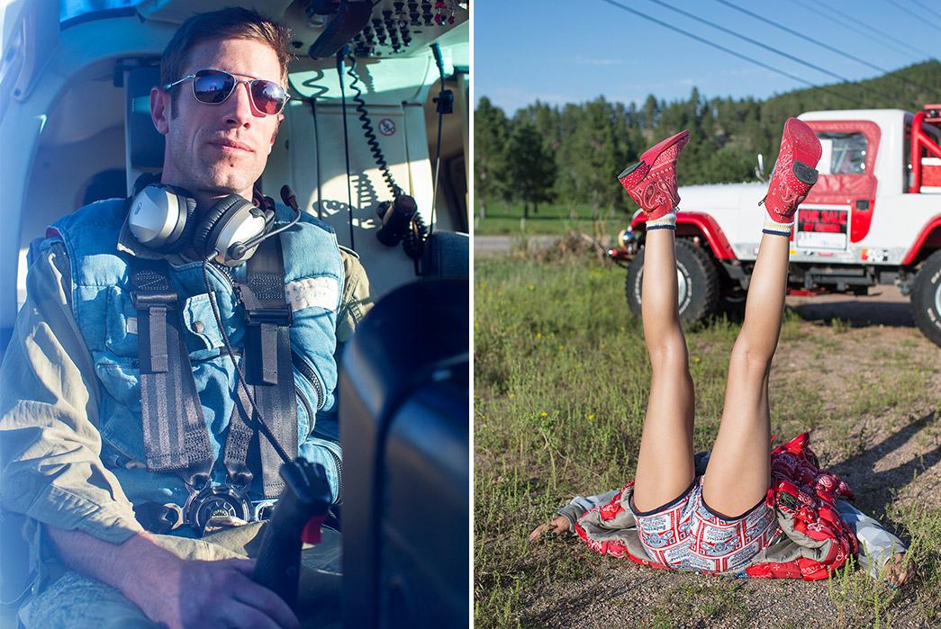 Kapital's-F-W-2019-Lookbook-Proves-They're-Still-Krazy-pilot-and-legs-up