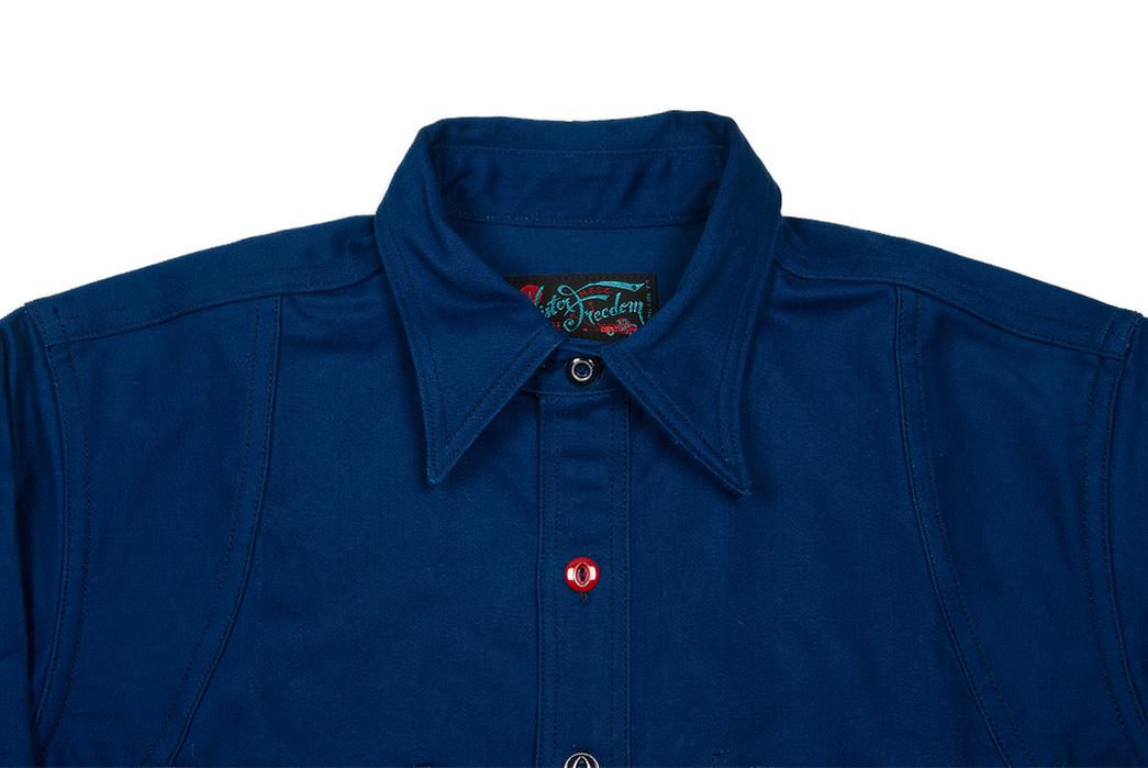 Mister Freedom Trailblazer Shirt collar