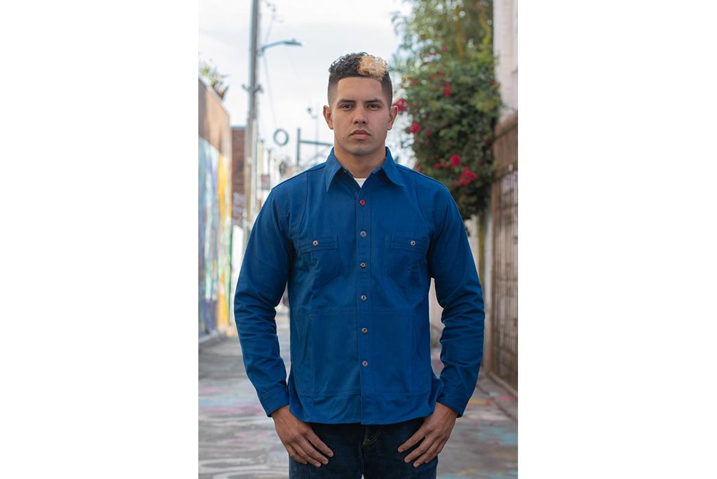 Mister Freedom Trailblazer Shirt model