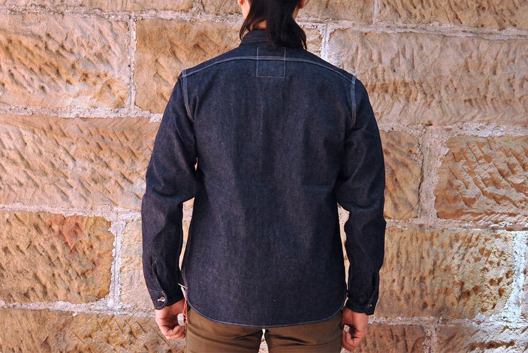 Samurai-12-oz.-Denim-Early-Work-Shirt-model back