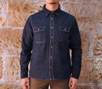 Samurai-12-oz.-Denim-Early-Work-Shirt-model front