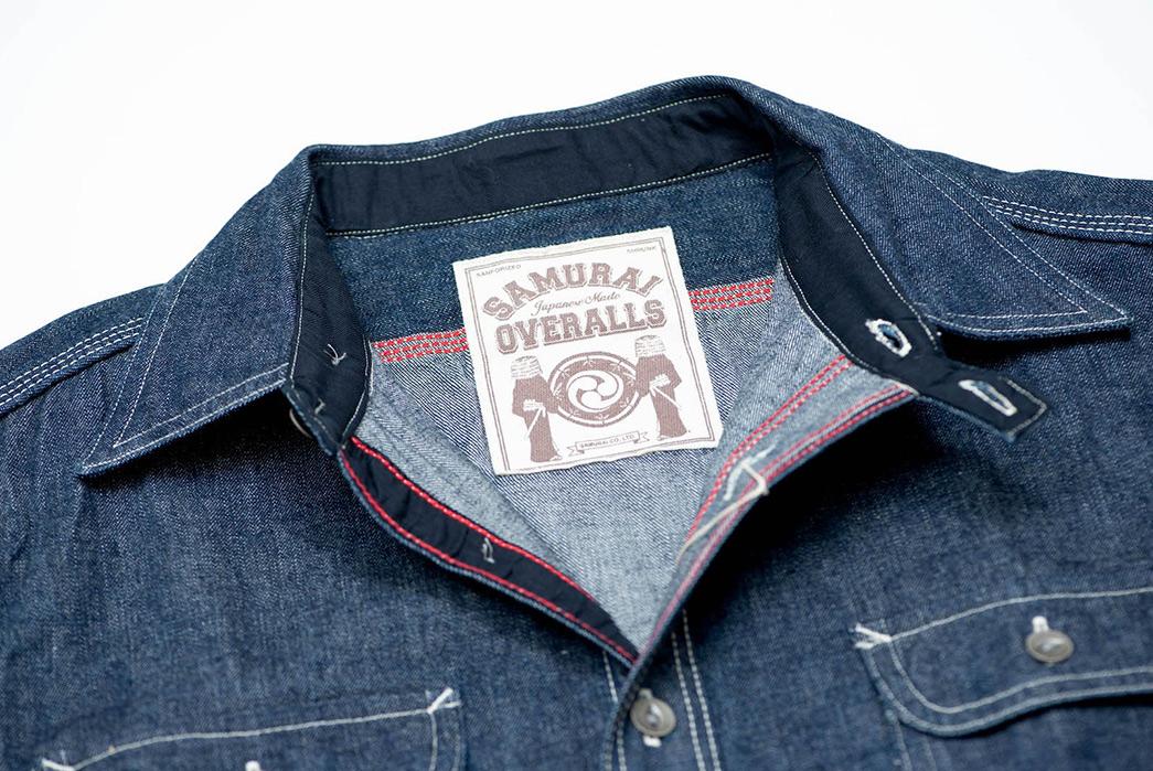 Samurai-12-oz.-Denim-Early-Work-Shirt-collar-and-brand
