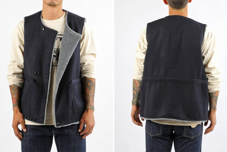Arpenteur-Ties-Up-a-Gabardine-Work-Vest-model-front-back</a>