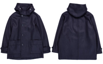 Arpenteur's-Kabig-Coat-Conquers-the-Cold-With-Melton-Wool-front-back