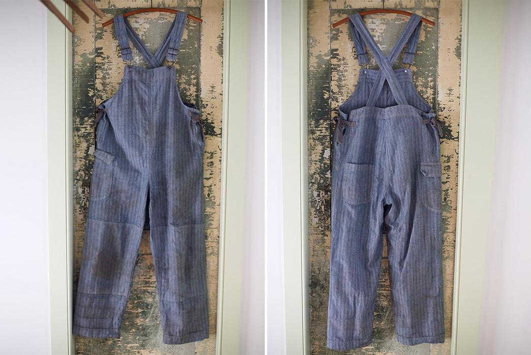 Gamine-Workwear's-Bobby-Bibs-Honor-Legendary-East-Coast-Vintage-Aficionado-Bobby-Garnett-front-back