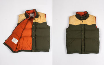 Ginew Elk Down Vest front open-and-front