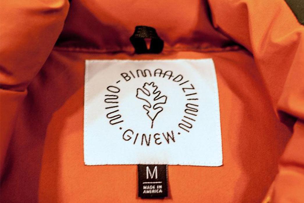 Ginew Elk Down Vest inside brand