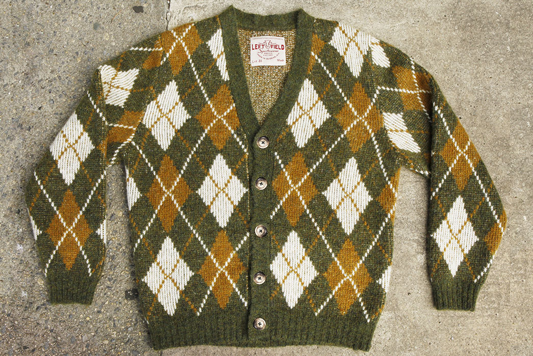 Left-Field's-Mohair-Cardigans-and-Watch-Caps-Are-Knitted-in-Queens,-NYC-green-sweater