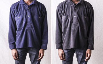 Mountain-Research-Logger-Shirt-model-fronts-blue-and-grey