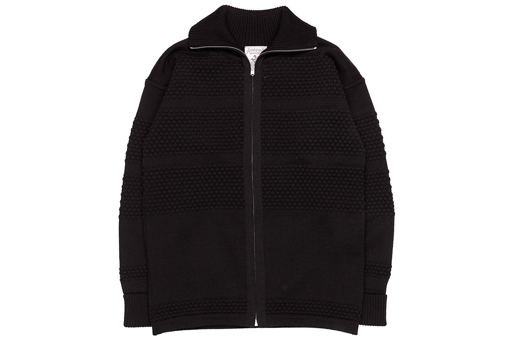 S.N.S.-Herning-Reels-in-Virgin-Wool-For-Its-Fisherman-Full-Zip-front-black