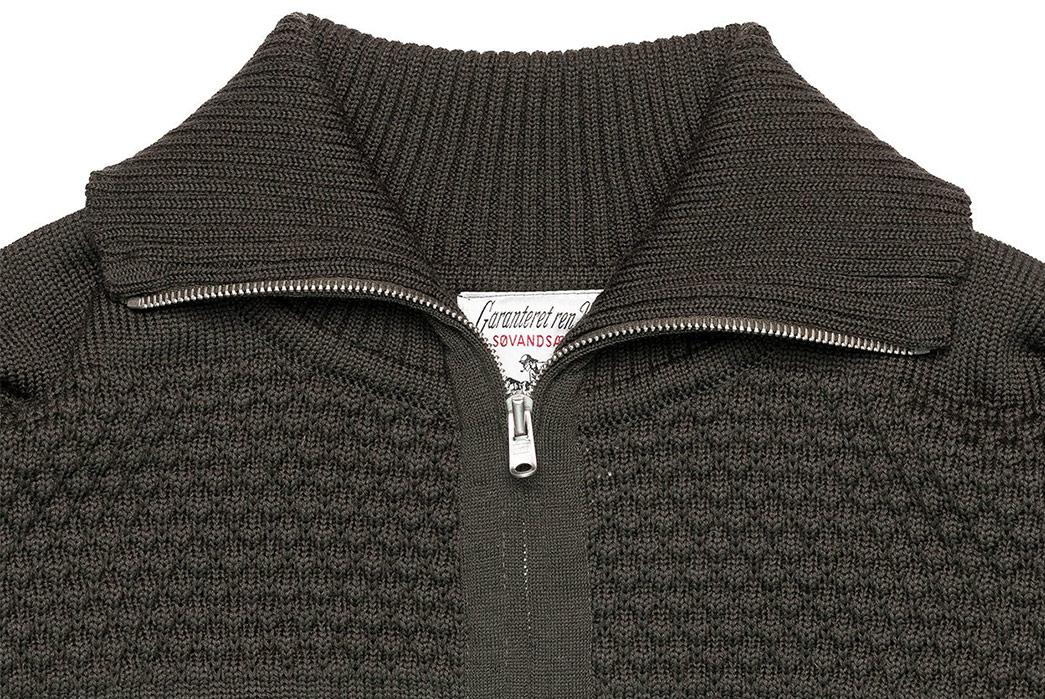 S.N.S.-Herning-Reels-in-Virgin-Wool-For-Its-Fisherman-Full-Zip-front-collar
