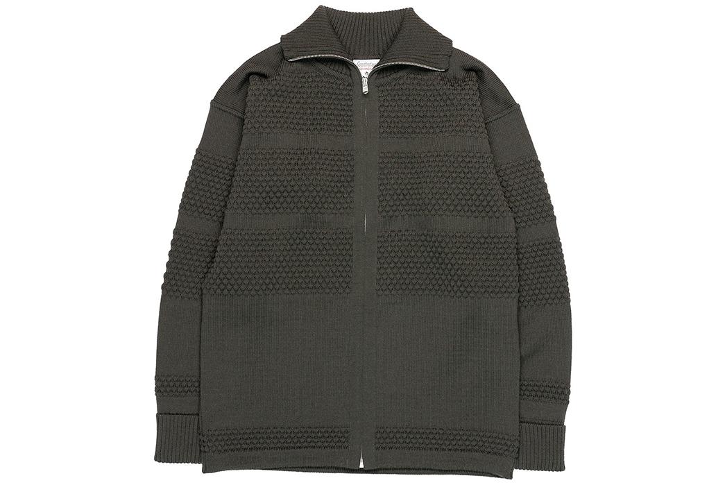 S.N.S.-Herning-Reels-in-Virgin-Wool-For-Its-Fisherman-Full-Zip-front-grey