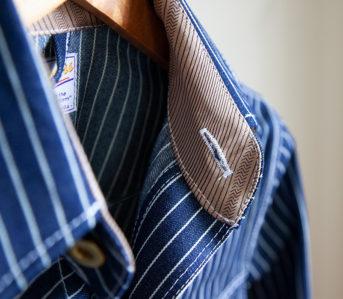 The-Heddels-Denimhead-Gift-Guide-2019-Slow Process Pinstripe Denim Jacket detailed
