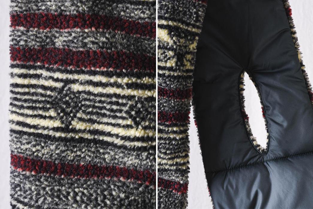 Kapital's-Birds-Eye-Boa-Scarf-Blends-Fleece-With-Japanese-Tradition-detailed