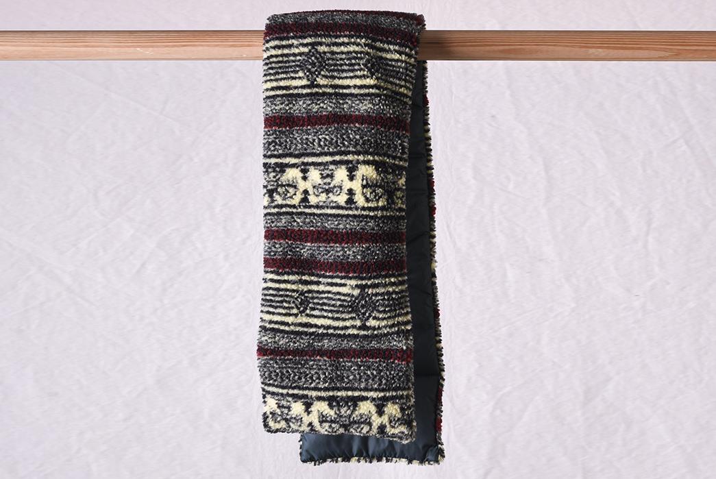 Kapital's-Birds-Eye-Boa-Scarf-Blends-Fleece-With-Japanese-Tradition