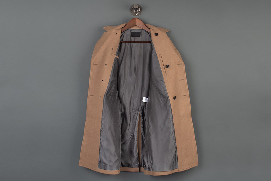 Nine-Lives-Dispatches-a-Japanese-Melton-Wool-WWII-Dispatch-Coat-front-open