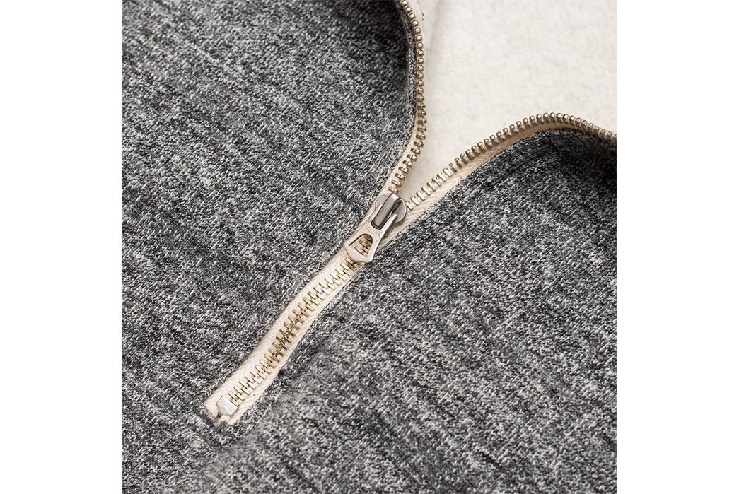 Stevenson-Overall-Co.-ZS-HG-Half-Zip-Sweatshirts-grey-zipper