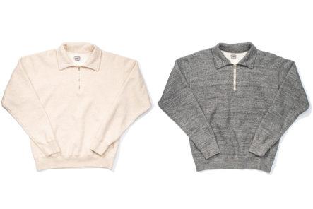 Stevenson-Overall-Co.-ZS-HG-Half-Zip-Sweatshirts-light-rose-and-grey