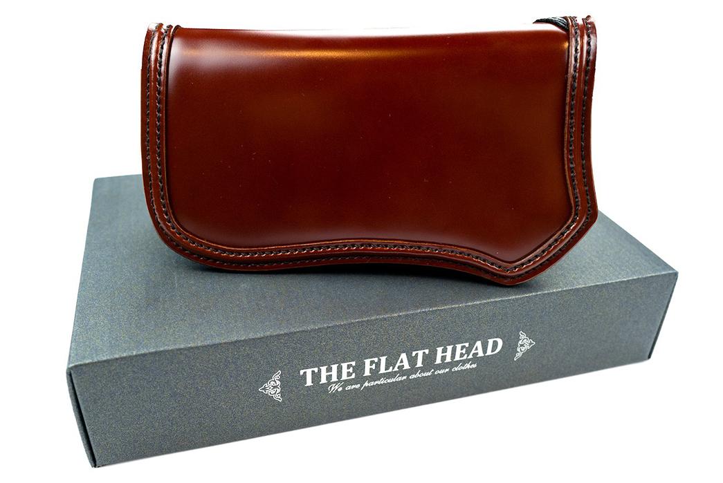 The-Flat-Head-Semi-Long-Cordovan-Wallet-front
