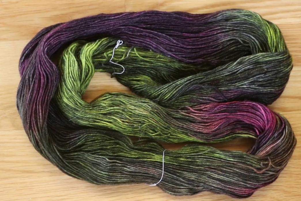 1000-Ways-to-Dye-Neon-yarns-overdyed-with-black.-Image-via-Chem-Knit