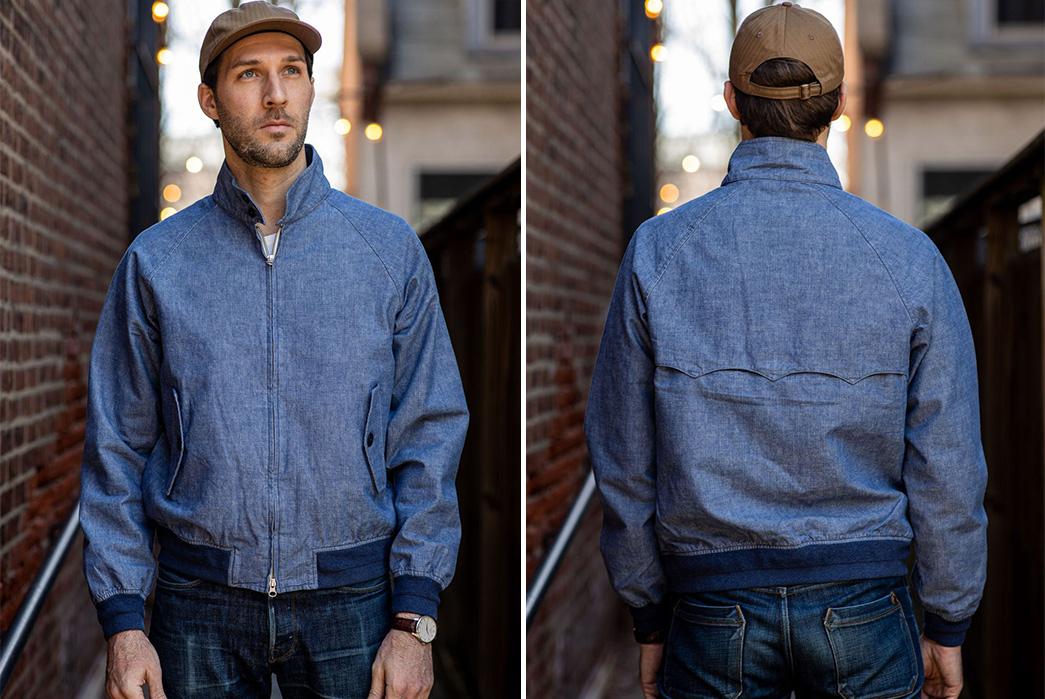C.O.F.-Studio-Sews-Up-a-Selvedge-Harrington-model-front-back