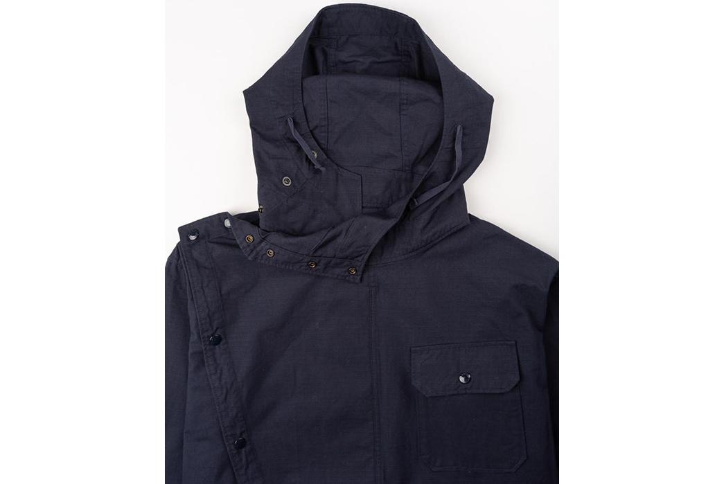 Engineered-Garments-Sonor-Jacket-Ripstop-front-hood