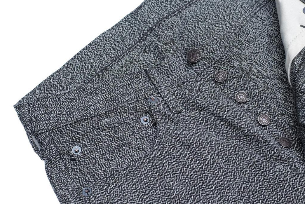 Fullcount-Blends-The-Archetypal-Covert-Twill-Pant-and-Five-Pocket-Jeans-front-top-angle