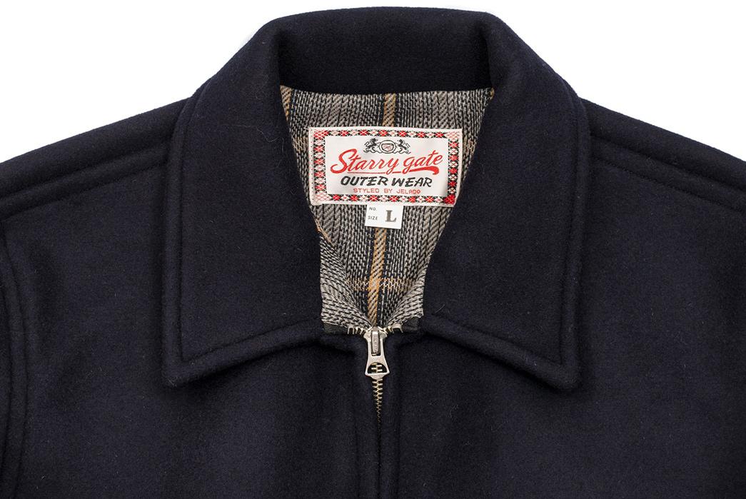 Jelado's-23428G-Jacket-Is-a-Melton-Wool-Hotshot-front-collar