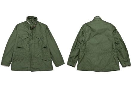 The-Real-McCoy's-M-65-Field-Jacket-'1st-Model'-Olive-MJ17010-front-back