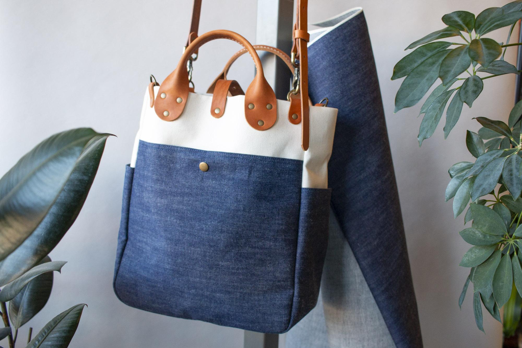 Heddels x Winter Session Triple Fade White Oak Denim Garrison Bag