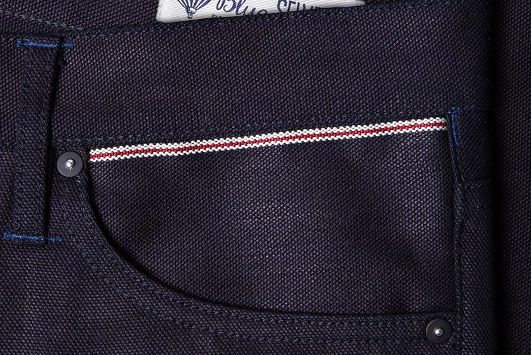 Black-and-Blue-Selvedge-Canvas-Fatigues-Benzak-back-leather-pocket