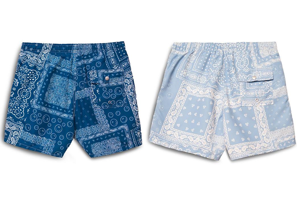 Dive-Into-Bather's-Bandana-Print-Swim-Trunk-blue-and-light-blue-back