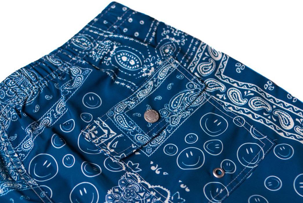 Dive-Into-Bather's-Bandana-Print-Swim-Trunk-blue-back-detailed