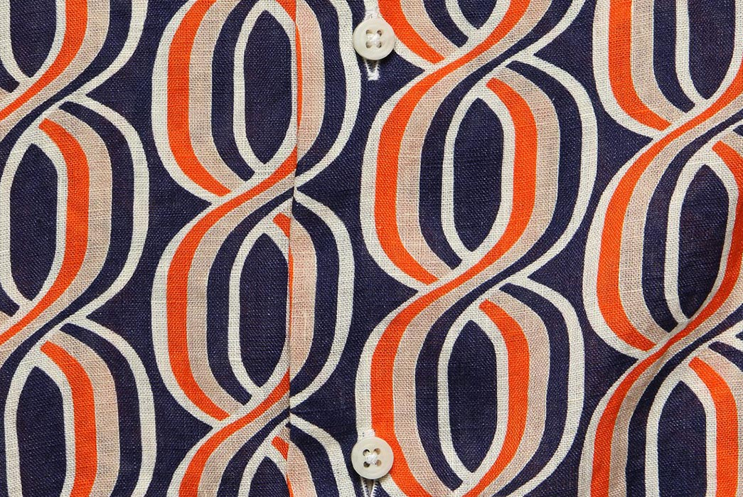 Gitman's-Mid-Century-Helix-Pattern-Camp-Shirt-front-detailed