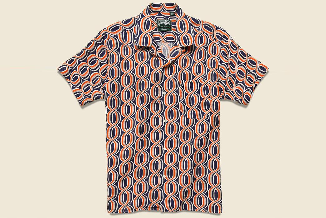 Gitman's-Mid-Century-Helix-Pattern-Camp-Shirt-front