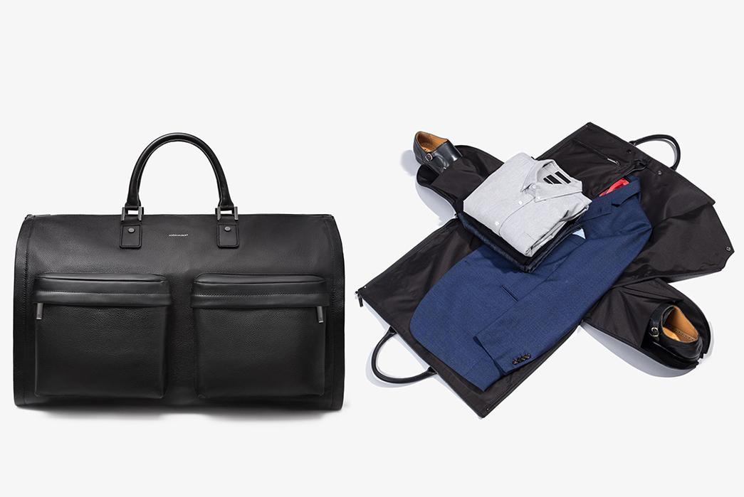 Leather-Duffel-Bags---Five-Plus-One-4)-Hook-&-Albert-Leather-Garment-Duffel