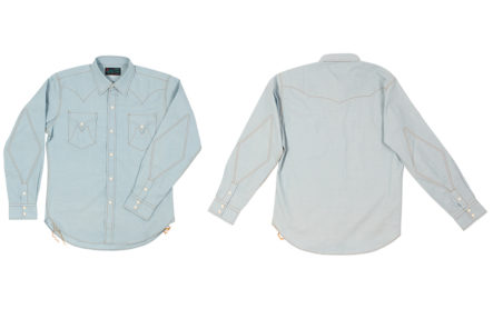 Mister-Freedom-Dresses-Its-Dude-Rancher-Shirt-In-Raw-Chambray-front-back