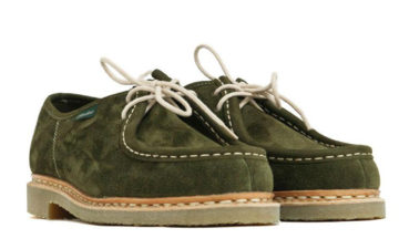 Paraboot-Brings-Its-Michael-Shoe-Down-To-Earth-With-Moss-Green-suede-&-Crep