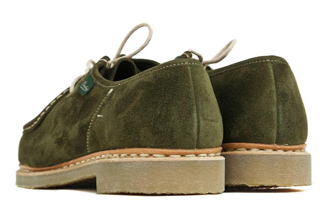 Paraboot-Brings-Its-Michael-Shoe-Down-To-Earth-With-Moss-Green-suede-&-Crep-pair-backs