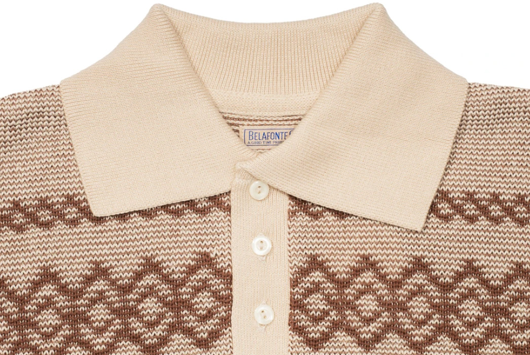 Belafonte-Brings-Back-Argyle-With-a-Knitted-Long-Sleeve-Polo-front-collar